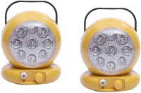 Sky Led Light Combo Pack Of 2 Table Lamp (12 Cm, Yellow)
