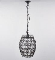 Ujjala Caged Glass Night Lamp (85 Cm, Black)
