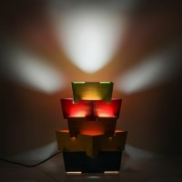 Swagger Swagger Handcrafted Multicolor Lamp Table Lamp (27.94 Cm, Multicolor)
