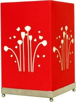 Craftter Square Flying Flowers Table Lamp (Red)