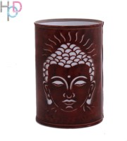 Height Of Designs Lord Budha Night Lamp (15 Cm, Brown)