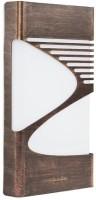 Philips Oriel 35027 9W(Wall Light) Night Lamp (4 Cm, Metal & Brown Brush)