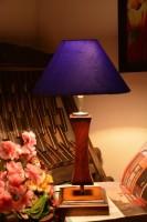 Yashasvi Yashasvi Royal Blue Table Lamp Table Lamp (45 Cm, Blue)