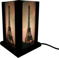 Huppme Eiffel Tower Table Lamp (19 Cm, Brown)