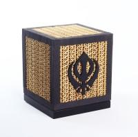Sylvn Studio Sikh Khanda Table Lamp (14 Cm, Brown, Black)