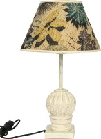 The Decor Mart Wood Table Lamp (49.53 Cm, White)