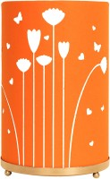 Craftter Round Flying Flowers Table Lamp (Orange)