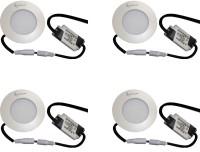EPSORI 4Watt 6500k White Round Indoor Cosiva Led Down Light Set Of 4 Night Lamp (2.5 Cm, White)
