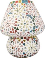Lime Light Mosaic Decoratives LL06 Table Lamp (22.86 Cm, Multicolor)