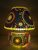 M.K. LIGHTING AND ELECTRICAL Glass Lamp 23 Table Lamp (33 Cm, Multi Colour)