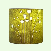 Craftter Flying Flowers Wall Lamp Table Lamp (22 Cm, Light Green)