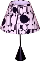 Craftter Abstract Rounds Metal Base Table Lamp (56 Cm, White, Black)