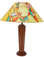 Crafts Republic Hand Painted Table Lamp (48.26 Cm, Multicolor)