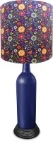 What Scrap Bottle Colorful Flowers Table Lamp (50 Cm, Multicolor)