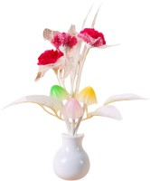 ShadowFax Avatar Mushroom Sensor LED Color Changing Light Table Lamp (4.5 Cm, Red)