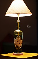 Kavi The Poetry Art Project Mask Table Lamp (51 Cm, Green, White, Gold)