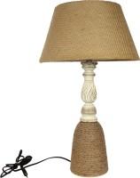 The Decor Mart Wood, Jute Table Lamp (64.77 Cm, Natural)