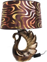 Scrafts Table Lamps Elegant Bird Bronze Shade