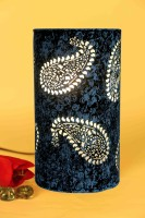 Height Of Designs Blue Butti Table Lamp (21.59 Cm, Blue)