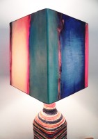 What Scrap Rope Square Trio Table Lamp (50 Cm, Multicolor)