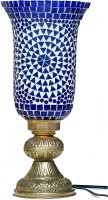 Eternity Handcrafted Unique Mosaic Glass Table Lamp (35 Cm, Blue)