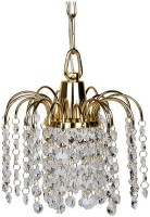 Fos Lighting Golden Fountain Crystal Hanging Light Ceiling Lamp (60.9 Cm, Golden)