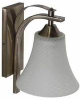 LeArc Antique Brass Finish Wall Light WL1525 Night Lamp (23 Cm, White)