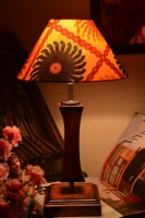 Yashasvi Yashasvi Sunflower Wooden Table Lamp Table Lamp (45 Cm, Multicolor)