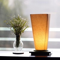 ExclusiveLane Conical Wooden Engraved Night Lamp (33 Cm, Brown)