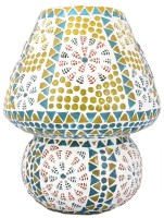 Lime Light Mosaic Decoratives LL01 Table Lamp (22.86 Cm, Multicolor)