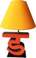 Sylvn Studio Diligent DA Letter Lamp Yellow Table Lamp (40.64 Cm, Brown)
