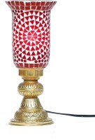 Eternity Handcrafted Unique Mosaic Glass Table Lamp (30 Cm, Red)