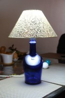 JDR Gallery Antiquity Table Lamp Table Lamp (10 Cm, Blue)