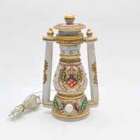 Gaura Art & Crafts Designer Lamp Table Lamp (6 Cm, White)