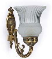 Fos Lighting Usha Single Antique Brass Wall Lamp (20.3 Cm, Antique Baras)