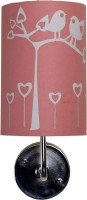 Craftter Bird On Tree Wall Lamp (36 Cm, Pink And White)