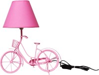 The Craz Me Light It Up Vintage Cycle Table Lamp (40 Cm, Pink)