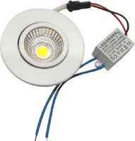 Sunshine Round 3 Watt Cob Led Light Ceiling Lamp (4 Cm, White)