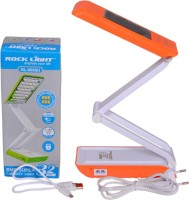 Rock Light 32 SMD Super Solar Study Lamp (21 Cm, Multicolor)
