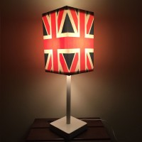 Nutcase British Flag Vintage Union Jack Table Lamp (51 Cm, Blue)