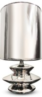 Calmistry Silver Metallic Table Lamp (30 Cm, Nickel)