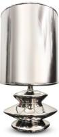 Calmistry Silver Metallic Table Lamp (30 Cm, Nickel)