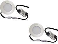 EPSORI 4Watt 6500k White Round Indoor Cosiva Led Down Light Set Of 2 Night Lamp (2.5 Cm, White)
