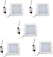 AE 6w Led Panel Light Pack Of Five Pieces Ceiling Lamp (2.8 Cm, White)
