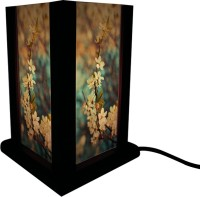 Huppme Gifts Four Side Flower Table Lamp Table Lamp (19 Cm, Blue)