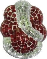 Craftszilla Square Red Crystals Wall Lamp (22.86 Cm, Red, White)