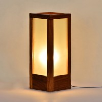 ExclusiveLane Frosted Glass Modern Table Lamp (25.4 Cm, Brown)
