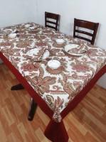 Heritagefabs Harmony Organic Cotton Table Linen Set Maroon, Pack Of 5
