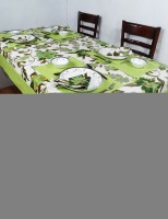 Heritagefabs Harmony Organic Cotton Table Linen Set Green, Pack Of 9