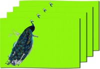 MeSleep Green Peacock Table Placemat (Pack Of 4)